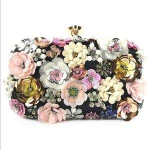 Lanpet Flower Evening Handbag w/ Shoulder Strap